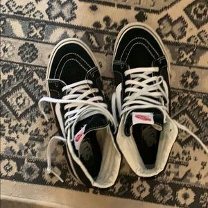 c04c695745 Vans Sk8 Hi women s size 7 black and white